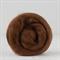 Merino wool tops / roving 19 micron – Bark - 50 gm