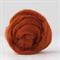 Merino wool tops / roving 19 micron – Rust - 50 gm