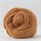 Merino wool tops / roving 19 micron – Cinnamon - 50 gm
