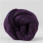 Merino wool tops / roving 19 micron – Blackberry - 50 gm