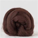 Merino wool tops / roving 19 micron – Chocolate - 50 gm