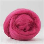 Merino wool tops / roving 19 micron – Raspberry - 50 gm