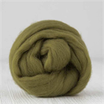 Merino wool tops / roving 19 micron – Olive - 50 gm