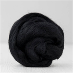 Merino wool tops / roving 19 micron – Dark (black) - 50 gm