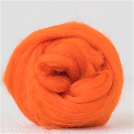 Merino wool tops / roving 19 micron – Orange - 50 gm