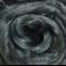Viscose tops / roving - 20 gm - Storm - medium grey