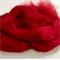 Viscose tops / roving - 20 gm - Passion - Bright red