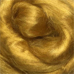 Viscose tops / roving - 20 gm - Honey - gold