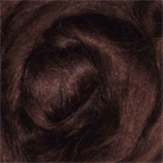 Viscose tops / roving - 20 gm - Chocolate - rich brown