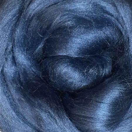 Viscose tops / roving - 20 gm - Jeans - Indigo blue