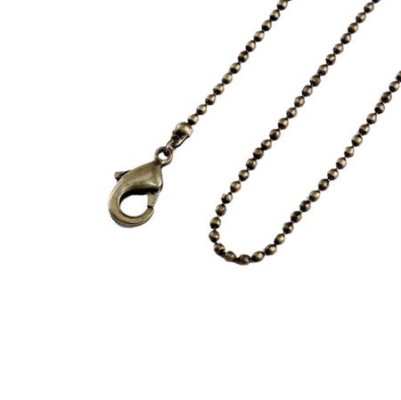 12 x 30'' (76cm) Antique Bronze Ball Link Long Necklaces