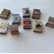 Miniature Assortment Packet Pantry Shelf Food Boxes for Dolls House x 9
