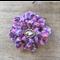 Crochet flower with jewel