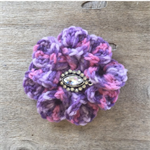 Crochet flower with jewel