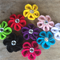 Set of 9 crochet flowers, assorted colours Free shipping