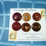'Vintage Buttons'  Set 10