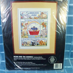 "Counted Cross Stitch Kit ""Noah and the Animals"""