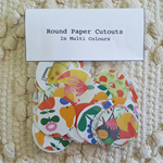 "100 Round Paper Cutouts In Reds & Multi Colours 1.5"" Circles"