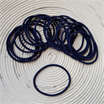 25 x Navy Blue Hair Ties/Elastics