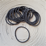 25 x Grey Hair Ties/Elastics