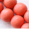 10mm Salmon Coral Round Wood Beads - Dyed and Waxed - 15 inch strand