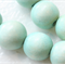 10mm Baby Blue Round Wood Beads - Dyed and Waxed - 15 inch strand