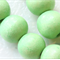 10mm  Chartreuse Green Round Wood Beads - Dyed and Waxed - 15 inch strand