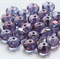 Firepolish 7/5mm Faceted Rondelle Czech Luster Beads - Amethyst (25 pieces)