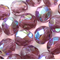 Amethyst Luster 8mm Faceted Round Czech Glass Beads (25 Pieces)