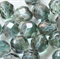 Luster Green Crystal  8mm Faceted Round Czech Glass Beads (25 Pieces)