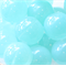 10mm Round Czech Pressed Glass Beads Transparent Turquoise (20 Pieces)