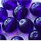 10mm Round Czech Pressed Glass Beads Transparent Royal Blue (20 Pieces)