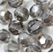 Black Diamond 8mm Faceted Round Czech Glass Beads (25 Pieces)
