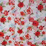 FLORAL PATTERNED COTTON FABRIC