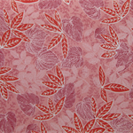 SHEER SILK LEAF PATTERNED FABRIC