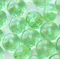 Czech Fire Polished Rondell Beads 9mm Transparent Peridot (15 Pieces)