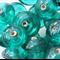 10mm Indian Saucer Glass Beads Teal(15 Pieces)