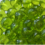 Czech Firepolish 7/5mm Faceted Rondell Beads - Olvine (25 pieces)