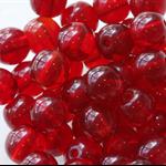 6mm Czech Pressed Glass Round Beads Transparent Garnet (25 Pieces)