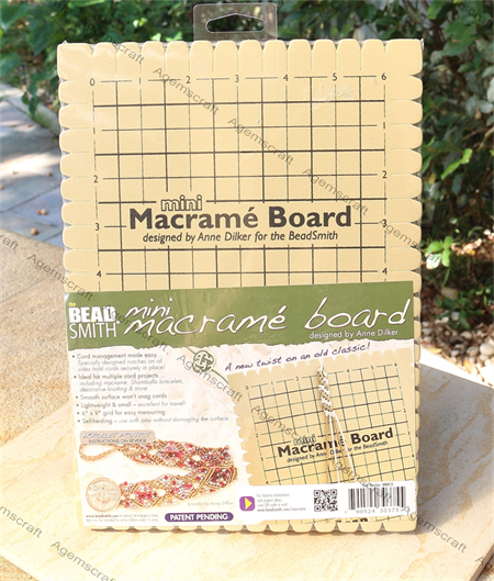 Mini Macrame Foam Board 7.5 x 10 inches - 6 X 9 Grid, 