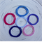 Mixed Pack of Pretty Coloured Snagless Hair Ties/Elastics (24)