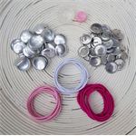 23mm (Size 36) Self Cover Button Snagless Hair Tie Pack (30)