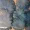 Assorted die cut paper flowers Sky Blue