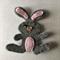 Grey bunny felt embellishment