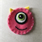 Pink One eyed monster face felt embellishment