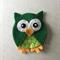 Green owl felt embellishment