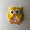 Yellow owl felt embellishment