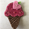 Pink ice cream felt embellishment