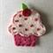Pink cupcake felt embellishment