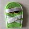 Green mummy felt embellishment